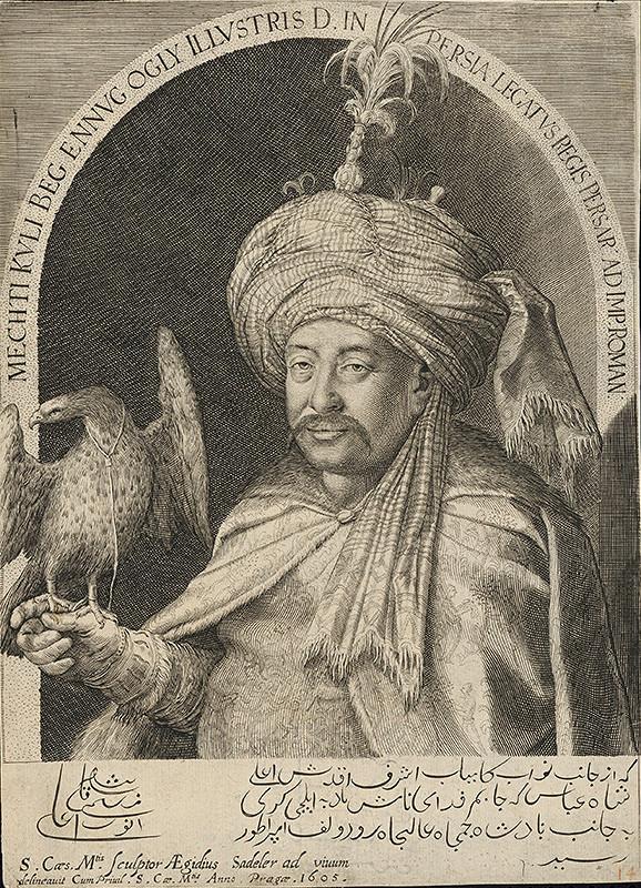 Aegidius Sadeler II. - Portrét perzského vyslanca Mahdiho Quliho Bega