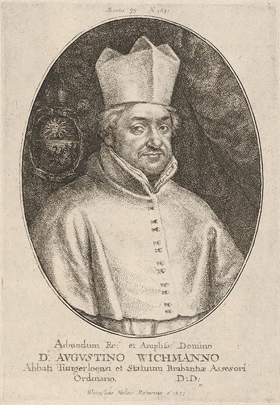 Václav Hollar – Portrét Augustína Wichmanna
