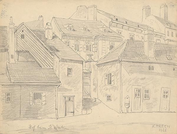 Karol Frech - Časť domov pri Dóme sv.Martina v Bratislave