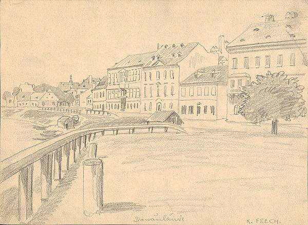 Karol Frech - Časť Dunajského nábrežia (Donaulände) smerom k Zuckermandlu