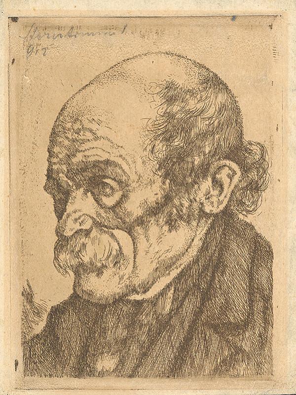 Stredoeurópsky grafik z 20. storočia - Hlava starca