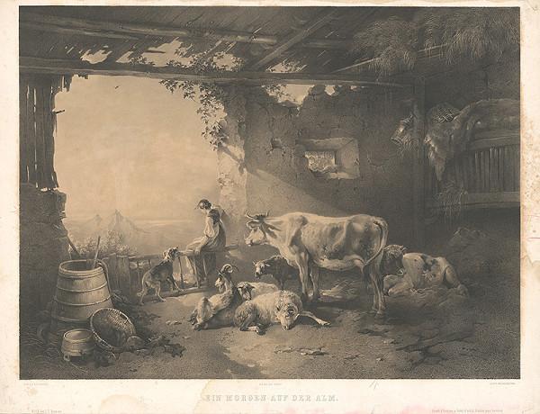 Eduard Weixlgärtner, Friedrich Gauermann - Ráno na salaši