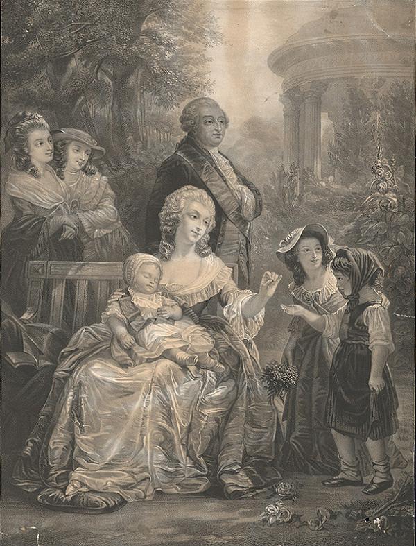Nemecký grafik z 19. storočia – Rodinná idyla