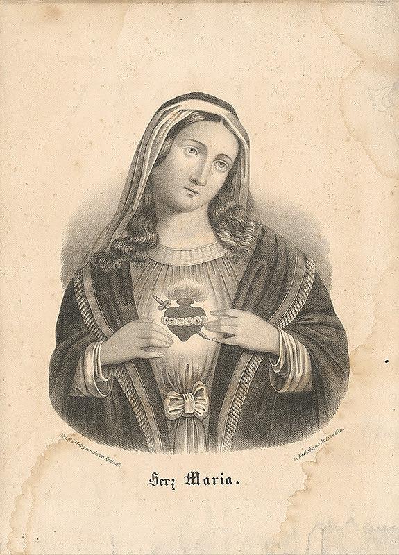 Rakúsky grafik z 19. storočia – Srdce Máriino