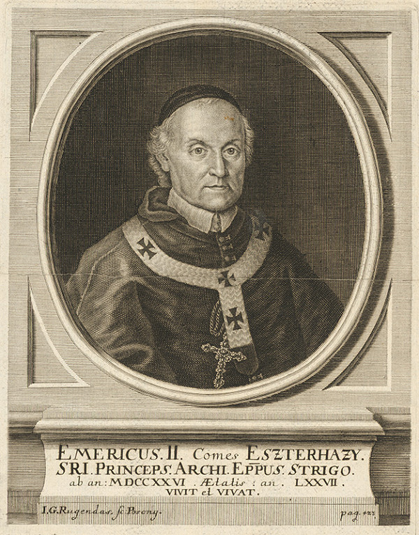 Jeremias Gottlob Rugendas – Portrét Emericusa II. grófa Eszterházyho