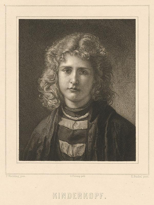 Eduard Büchel, P. Kiessling - Portrét dievčaťa