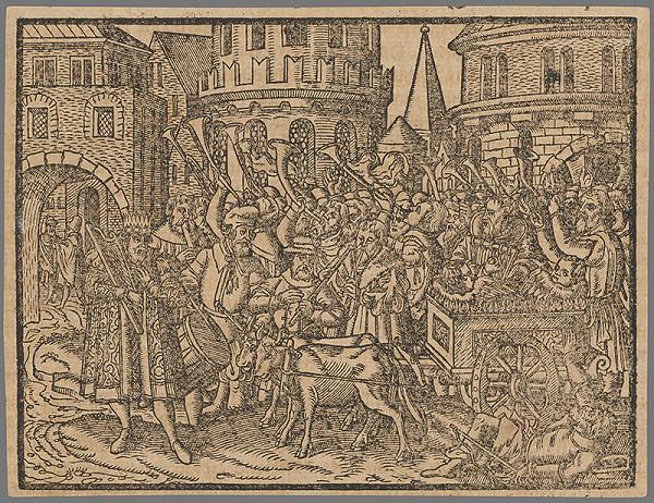 Stredoeurópsky grafik zo 16. storočia - Výjav zo Starého zákona 9.