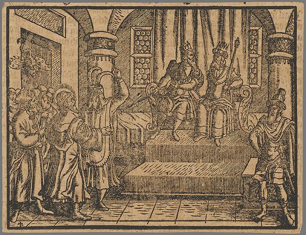 Stredoeurópsky grafik zo 16. storočia - Výjav zo Starého zákona 11.