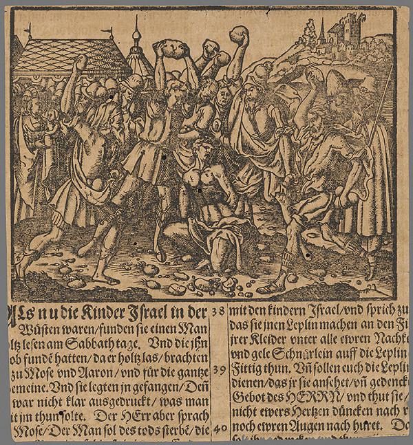 Stredoeurópsky grafik zo 16. storočia - Výjav zo Starého zákona 12.