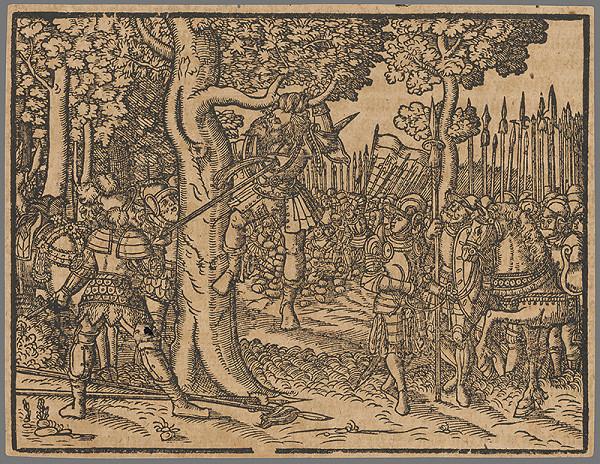 Stredoeurópsky grafik zo 16. storočia - Výjav zo Starého zákona 13.