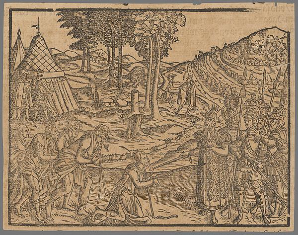 Stredoeurópsky grafik zo 16. storočia - Výjav zo Starého zákona 15.