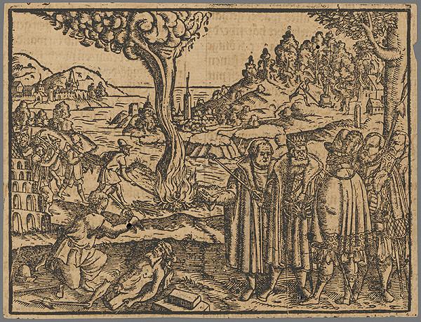 Stredoeurópsky grafik zo 16. storočia - Výjav zo Starého zákona 14.