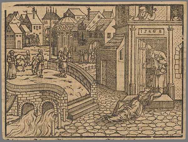 Stredoeurópsky grafik zo 16. storočia - Výjav zo Starého zákona 17.
