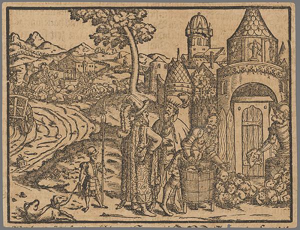 Stredoeurópsky grafik zo 16. storočia - Výjav zo Starého zákona 18.