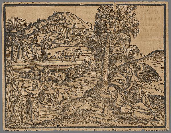 Stredoeurópsky grafik zo 16. storočia – Výjav zo Starého zákona 20.