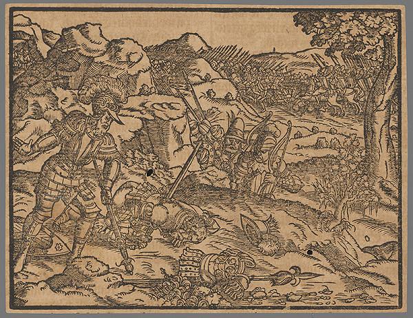 Stredoeurópsky grafik zo 16. storočia - Výjav zo Starého zákona 21.