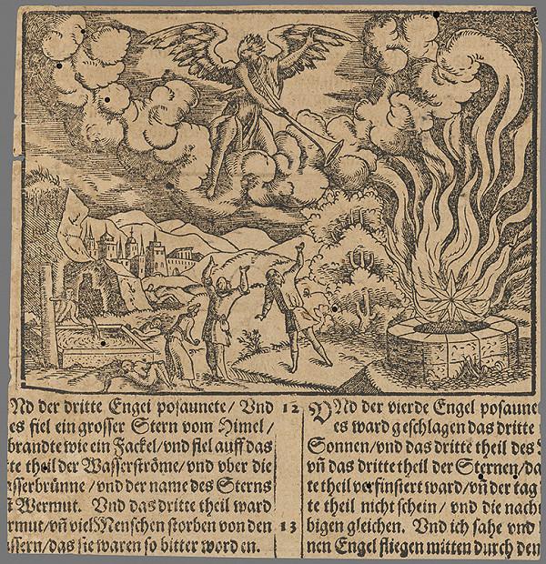 Stredoeurópsky grafik zo 16. storočia - Výjav zo Starého zákona 22.