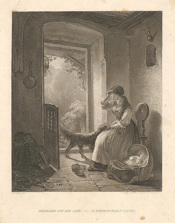 August Heinrich Niedmann, Alexander Alboth – Návrat domov z poľovačky