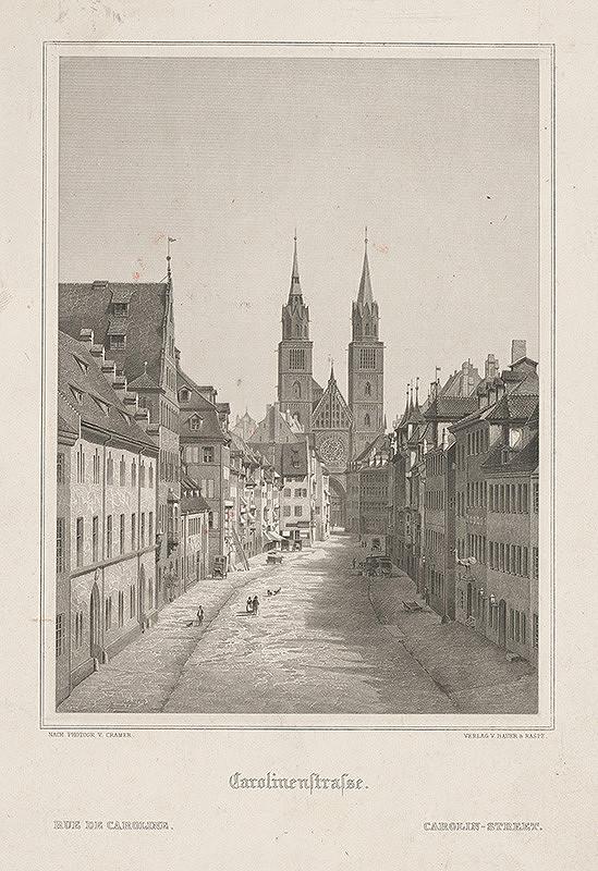 Nemecký grafik z 19. storočia - Karolínska ulica