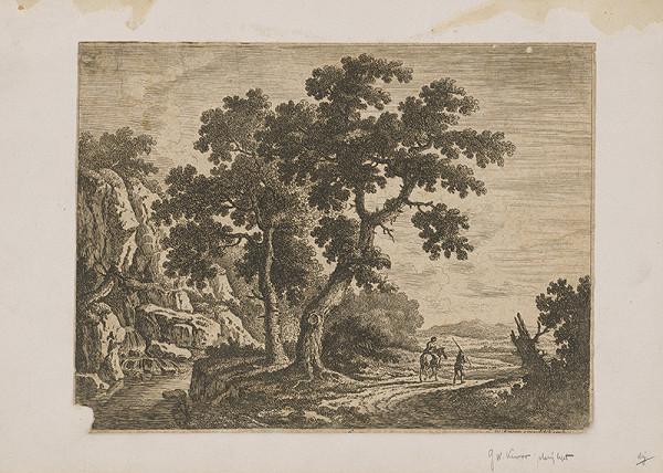 Nemecký grafik z 18. storočia – Krajina