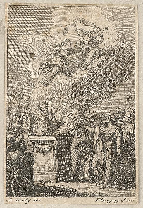 Joseph Gregory, Giuseppe Zocchi - Mytologický výjav