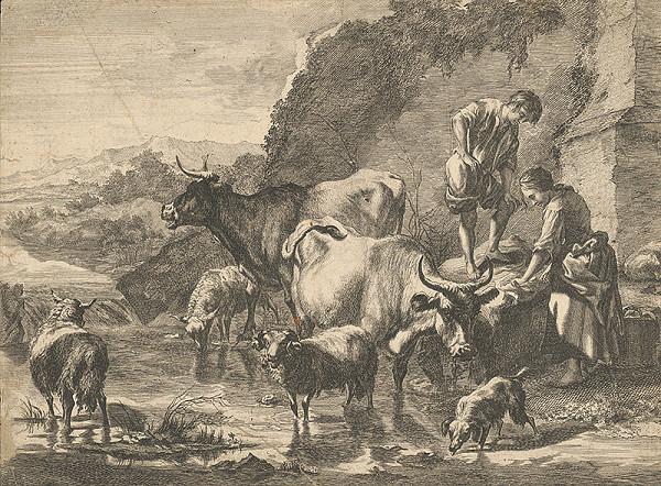 Stredoeurópsky grafik z prelomu 17. a začiatku 18. storočia - Napájanie statku
