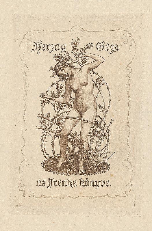 Hans Volkert - Ex libris Herzog Géza a Jrénke