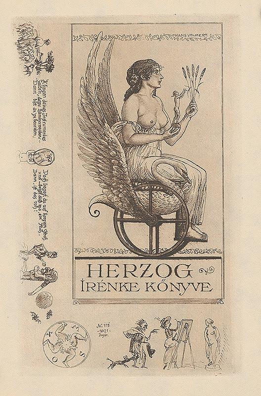 Hans Volkert – Ex libris Irénke Herzog