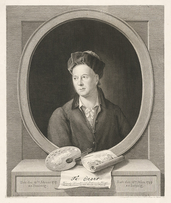 Carlo Ottone, Anton Graff – Portrét maliara Fridricha Oesera