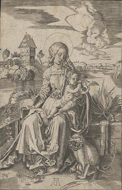 Albrecht Dürer – Madona s dieťaťom a s opicou
