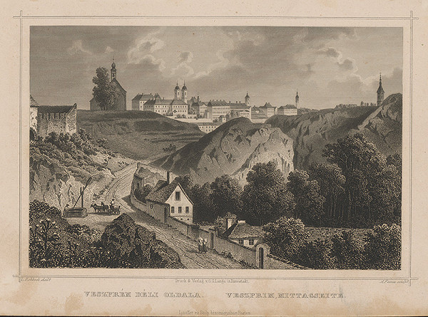 Ludwig Rohbock, A. Fesca – Pohľad na Veszprém