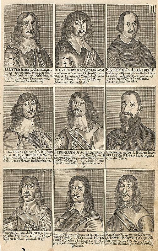 Stredoeurópsky grafik zo 17. storočia - Skupina portrétov