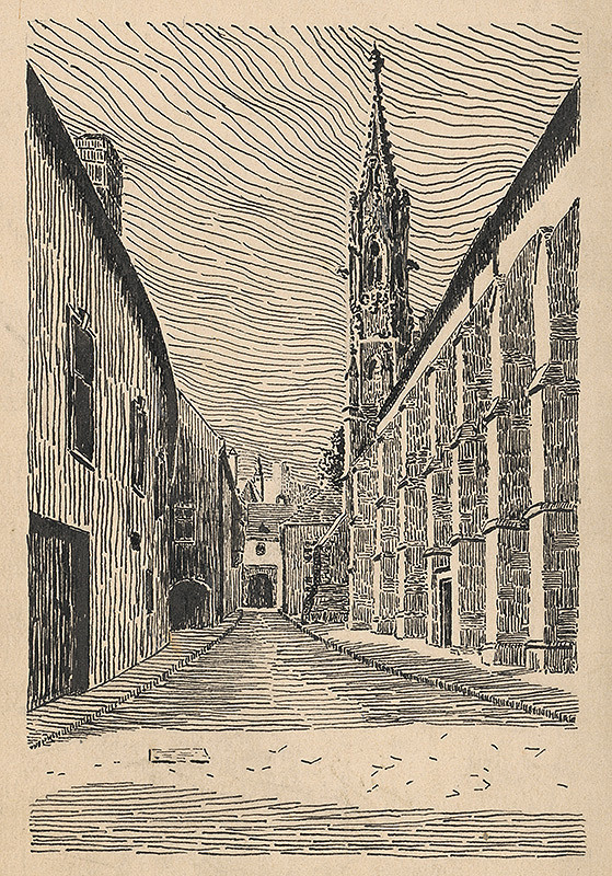 Slovenský kresliar z 1. polovice 20. storočia – Klariská ulica v Bratislave