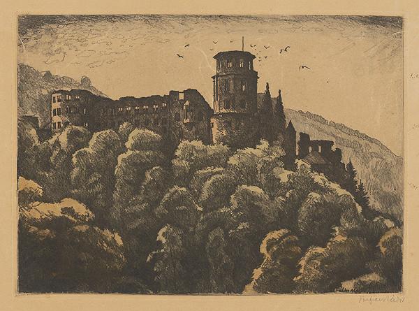Stredoeurópsky grafik z 20. storočia - Zrúcaniny hradu