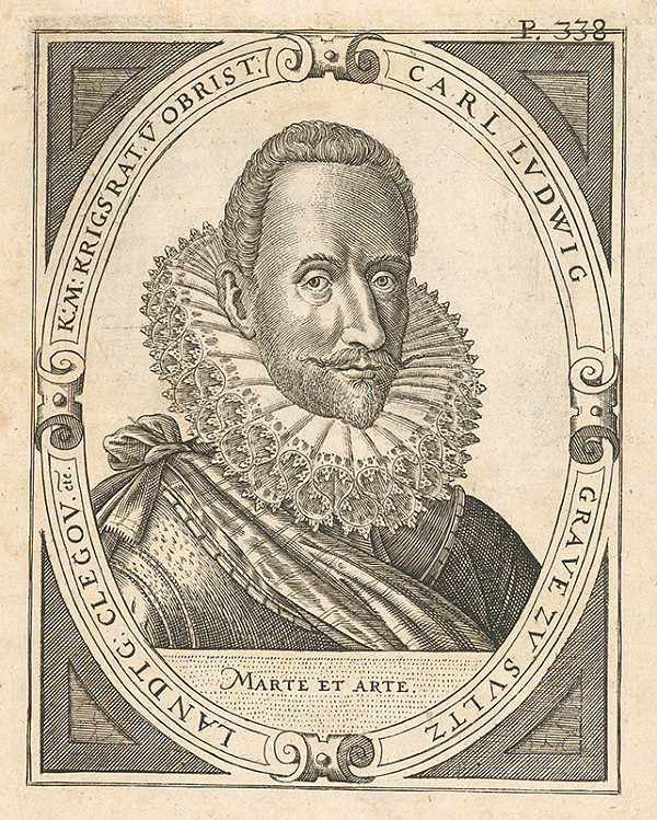 Nemecký grafik zo 17. storočia - Portrét Karola Ludwiga I. von Sulz