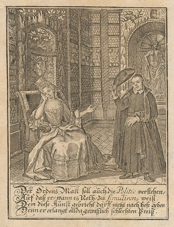 Stredoeurópsky grafik z 18. storočia – Mních a dáma