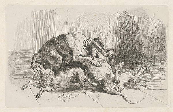 Johann Mathias Ranftl – Psí boj