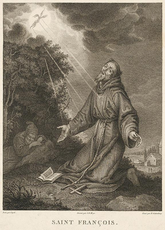 Lodovico Cigoli, Heinrich Guttenberg, Jean Baptiste Joseph Wicar - Stigmatizácia svätého Františka