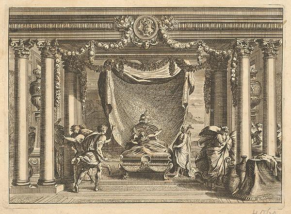 Stredoeurópsky grafik z 18. storočia - Biblický výjav