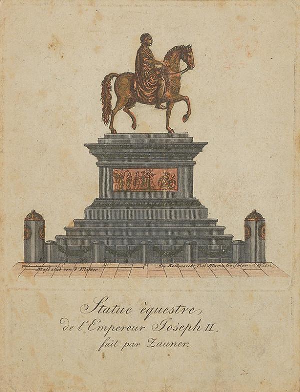 T.G. Klaster, Franz Anton Zauner – Jazdecký portrét Jozefa II. vo Viedni