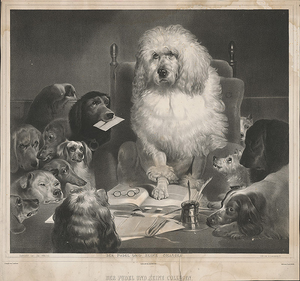 Edwin Henry Landseer, Joseph Lanzedelli ml. – Pudlík a jeho kolegovia