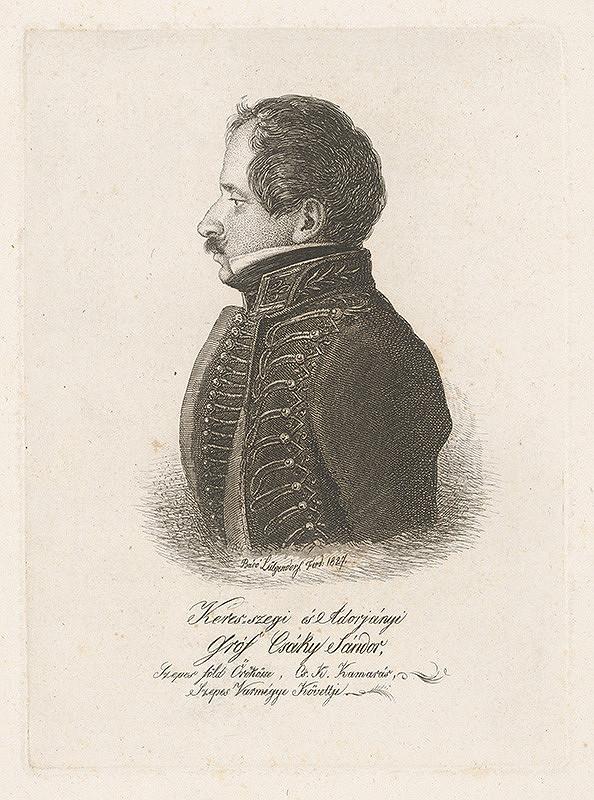Ferdinand Karl Theodor Lütgendorff - Portrét grófa Šándora Csákyho