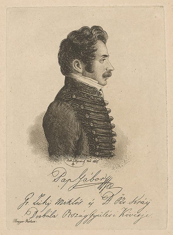Ferdinand Karl Theodor Lütgendorff - Portrét Gábora Papa