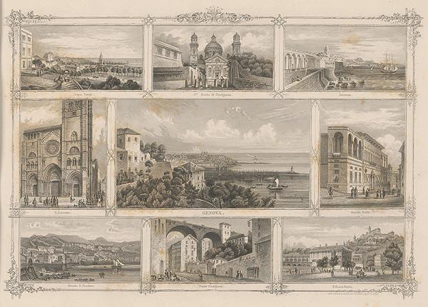 Stredoeurópsky grafik z 19. storočia - Významné budovy v Janove