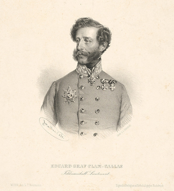 Anton Stadler – Portrét grófa Clama Gallasa