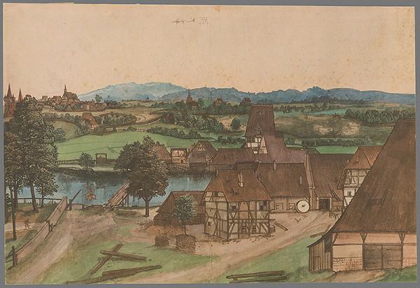Albrecht Dürer - Pohľad na mesto