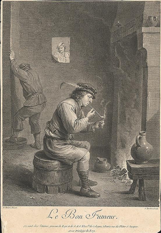 David Teniers, Jacques Nicolas Tardieu – Fajčiar