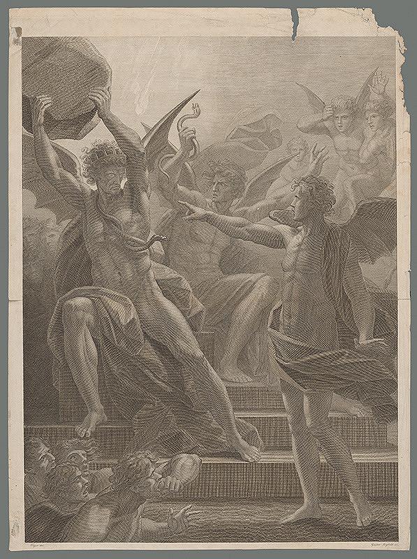 Henrich Gustav Adolf Leybold, Friedrich Heinrich Füger - Výjav z mytológie