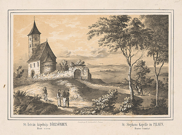 Stredoeurópsky grafik z 19. storočia - Kaplnka sv.Štefana
