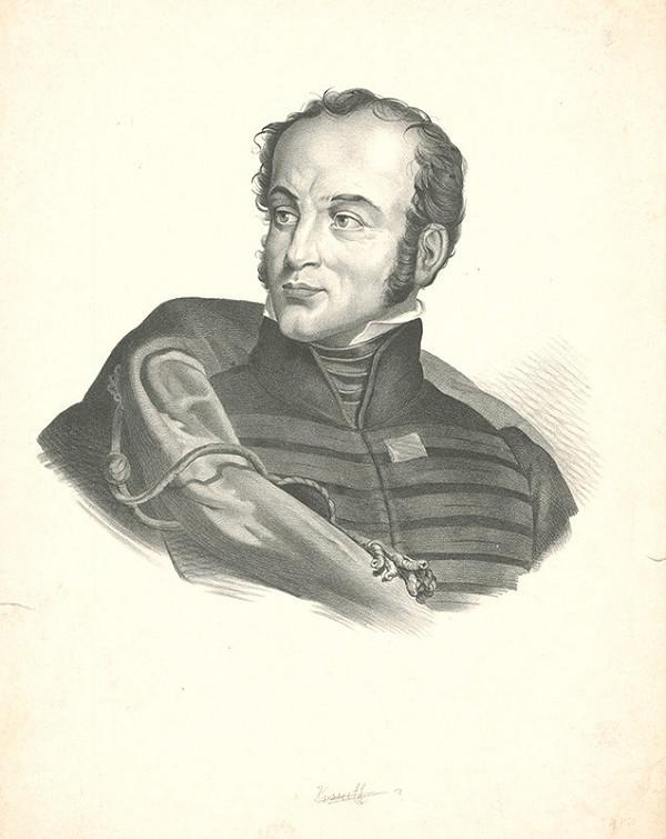 Stredoeurópsky grafik z 19. storočia - Portrét muža